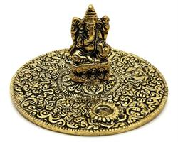 Rökelsehållare - Fat Ganesha guld (6 pack)