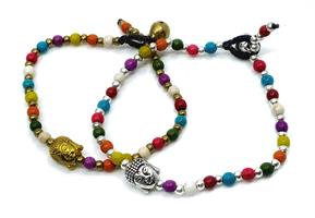 Armband - Buddha rainbow mix (4 pack)