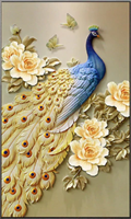 Diamond Painting, Påfulg 50*90cm FPR