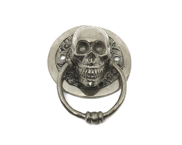 Brons - Silver skalle dörrknackare (2 pack)
