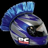 Hjelm Mohawk blå