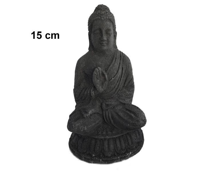 Buddha - Lotus svart 15cm (6 pack)