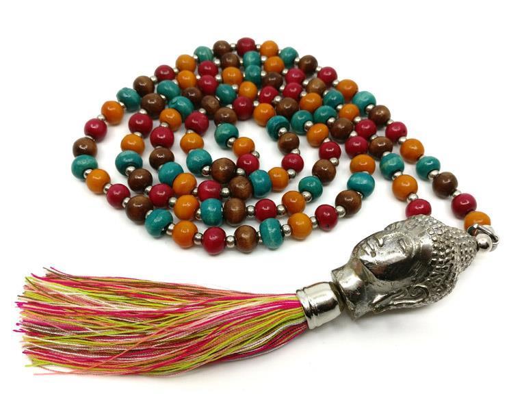 Mala - Buddha 108 pärlor rainbow (4 pack)