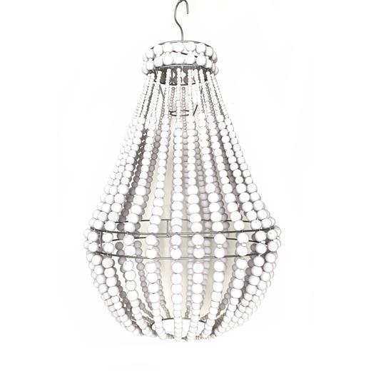 Lampa - Träpärlor vit 40cm (1 pack)