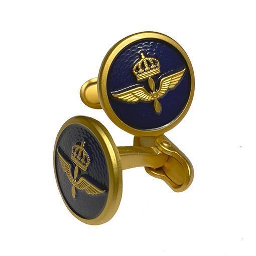 Manschettknapp m emalj, Flygvapnet
