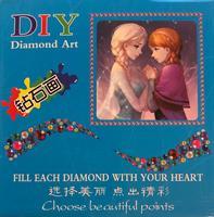 Diamond Painting, Bilde m/ramme Frost (Elsa, Anna) DPR
