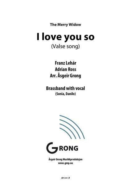 I love you so (Valse song)