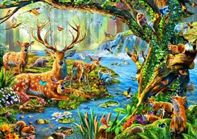 Puslespill Forest Life, 1500 brikker