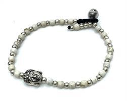 Armband - Buddha vit (4 pack)