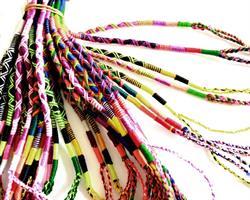 Knytarmband - Rainbow mix (48 pack)