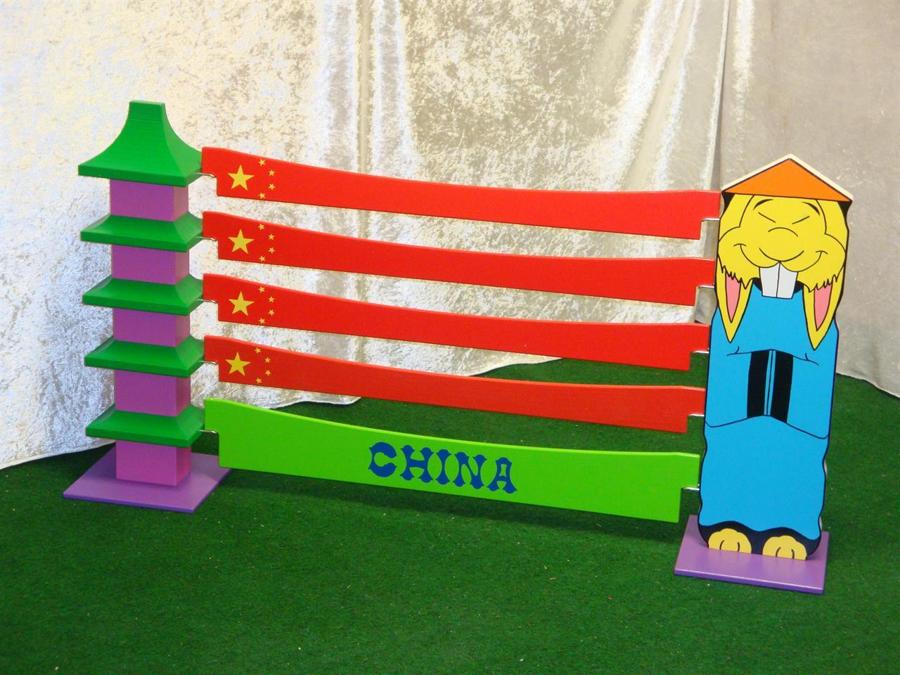 Kina enkel, hus med blå kines