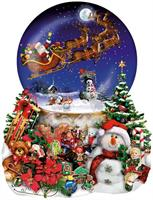 Puslespill Figurformet Santa's Snowy Ride, 1000 brikker