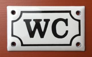 Emaljskylt WC 90x54 mm