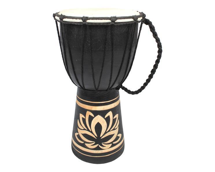 Djembetrumma - Lotus svart (4 pack)