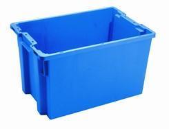 Transportkasse konisk 600x400x350mm 66 liter blå