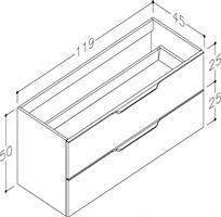 Underskåp bänk Evoke 120 cm