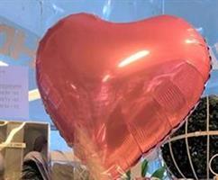 Hjerte Folie Ballong/Rosa