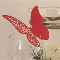 Bordkort - Rød sommerfugl