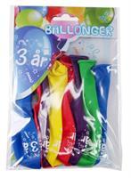 Tinka ballonger 8 pk 3 år Flerfarge