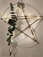 Unik Bambus stjerne halvmoon med kongle og bladder