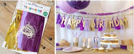 20 stk Lilla, purple, Rosa og Gull Tassel
