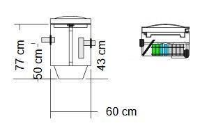 BioBox SLIM / Saostuskaivo SK100 Biologinen harmaavesisuodatuspaketti