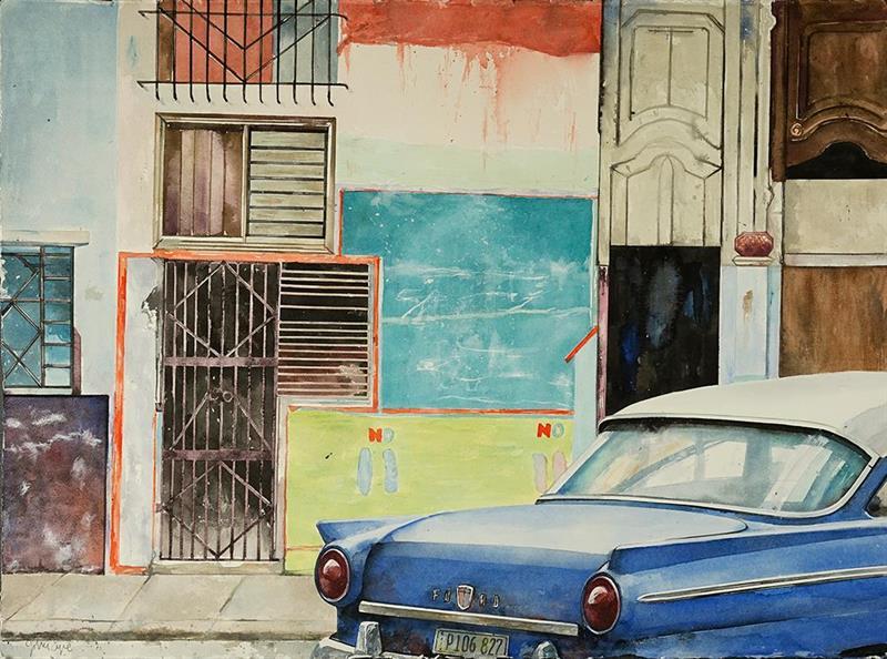 Havanna Ford azul