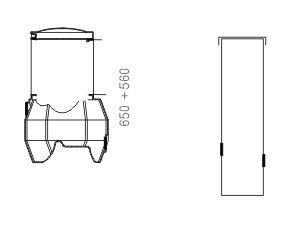 Kokoomakaivo 1/1 kork 1,5m, halk 0,40 m