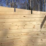 Såga urtagen för takåsar 45*145 mm.