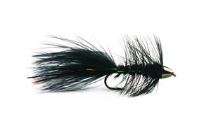 Wolly Bagger Svart Cone Head Streamer #8