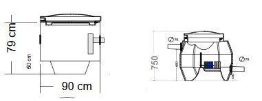 BioBox XL / Saostuskaivo SK250 Biologinen harmaavesisuodatuspaketti