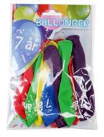 Tinka ballonger 8 pk 7 år Flerfarge