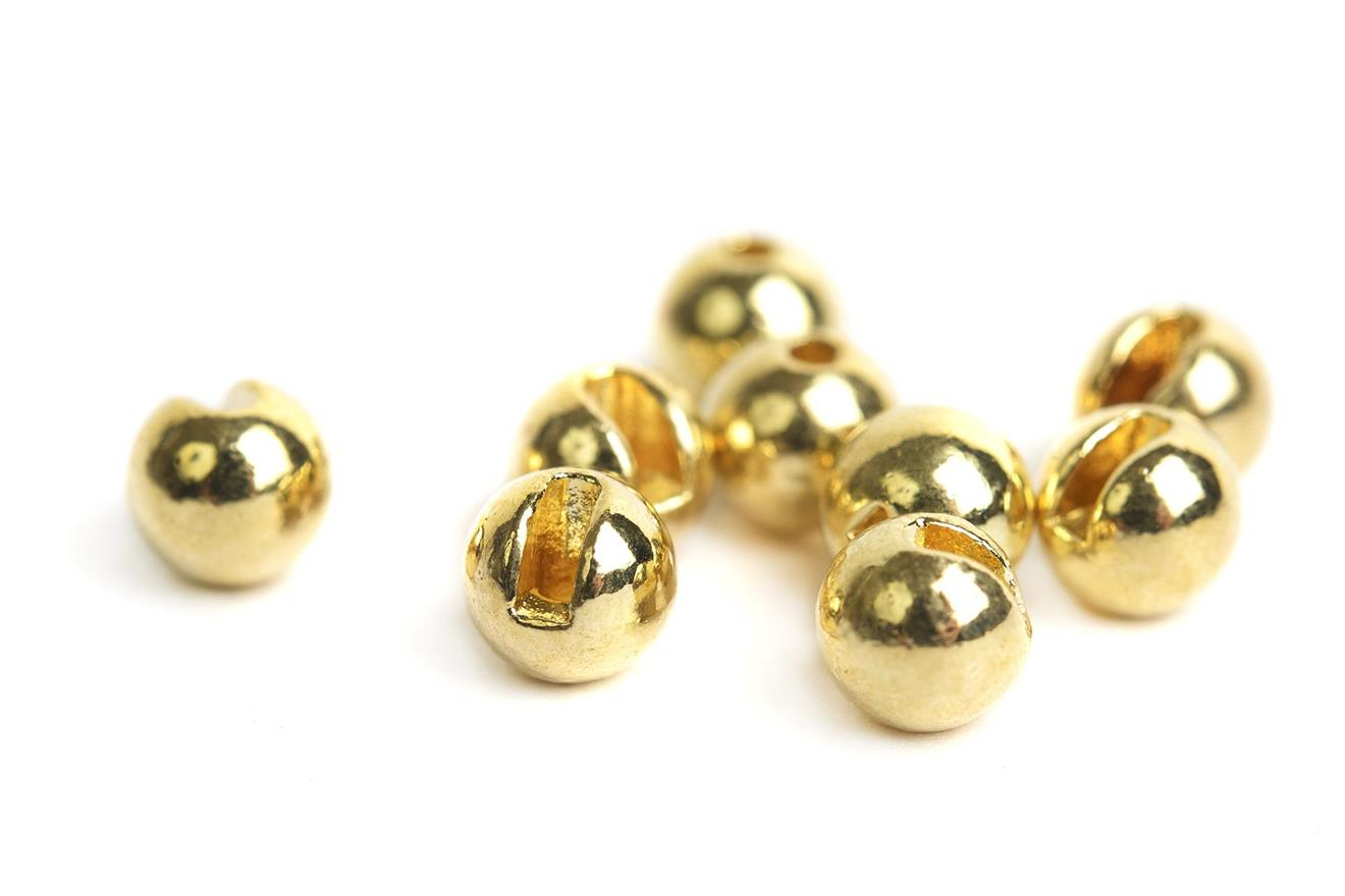 Slotted Tungsten Beads 4,0mm - Gold