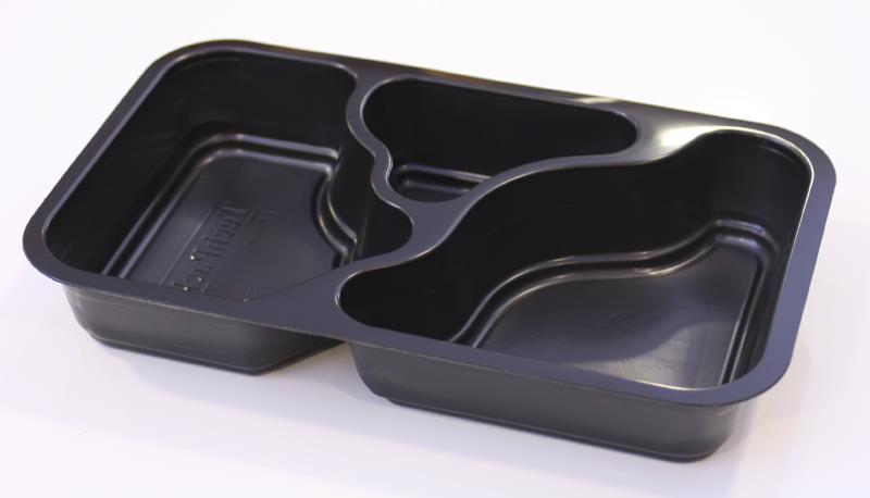 PP Form 3-fack 1/4 GN  svart, 300 st