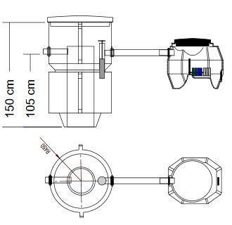 BioBox XL / Saostuskaivo SK600 Biologinen harmaavesisuodatuspaketti