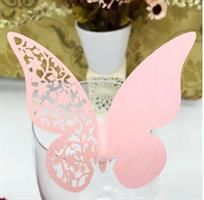 Bordkort - Rosa farge sommerfugl