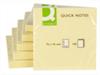 Viestilappu Q-Connect 76X76mm keltainen 12kpl
