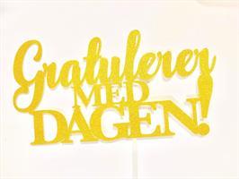 Kaketopper - Gratulerer med dagen Gull