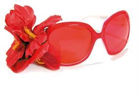 Blomsterbrille rød
