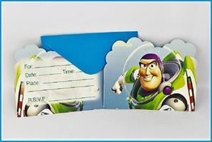 6 stk Invitasjonskort - Buzz Light Year