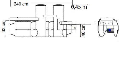 BioBox XL / Saostuskaivo SK450 Biologinen harmaavesisuodatuspaketti
