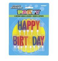 Kakelys Happy Birthday med holdere