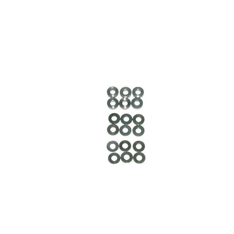 SPEED PACK Alu Brickor - M3x7mm 0.5;1;2mm (18)