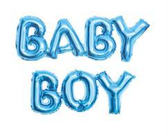 Baby Boy Folie ballong blå