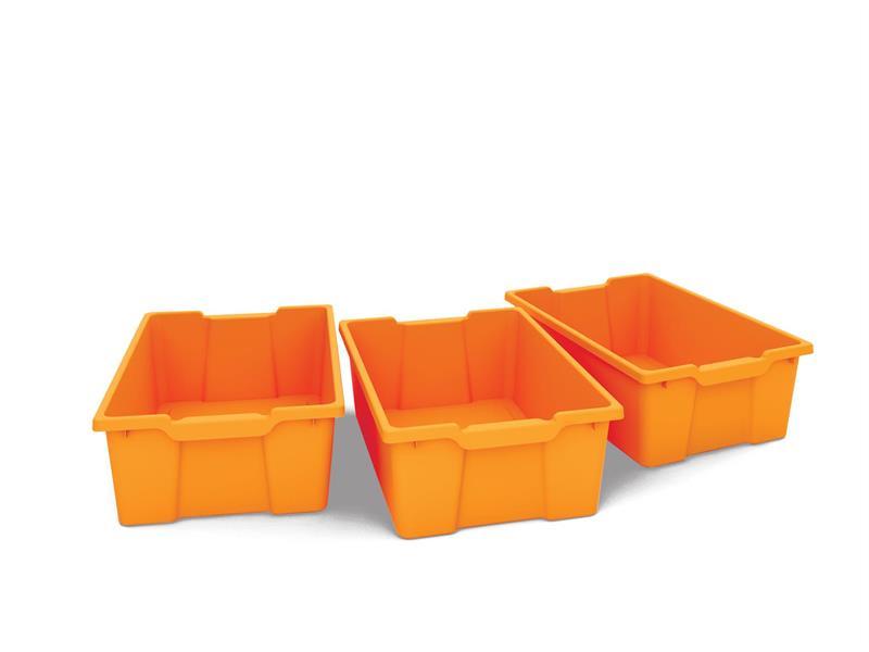 Plastback/mellan orange 3st
