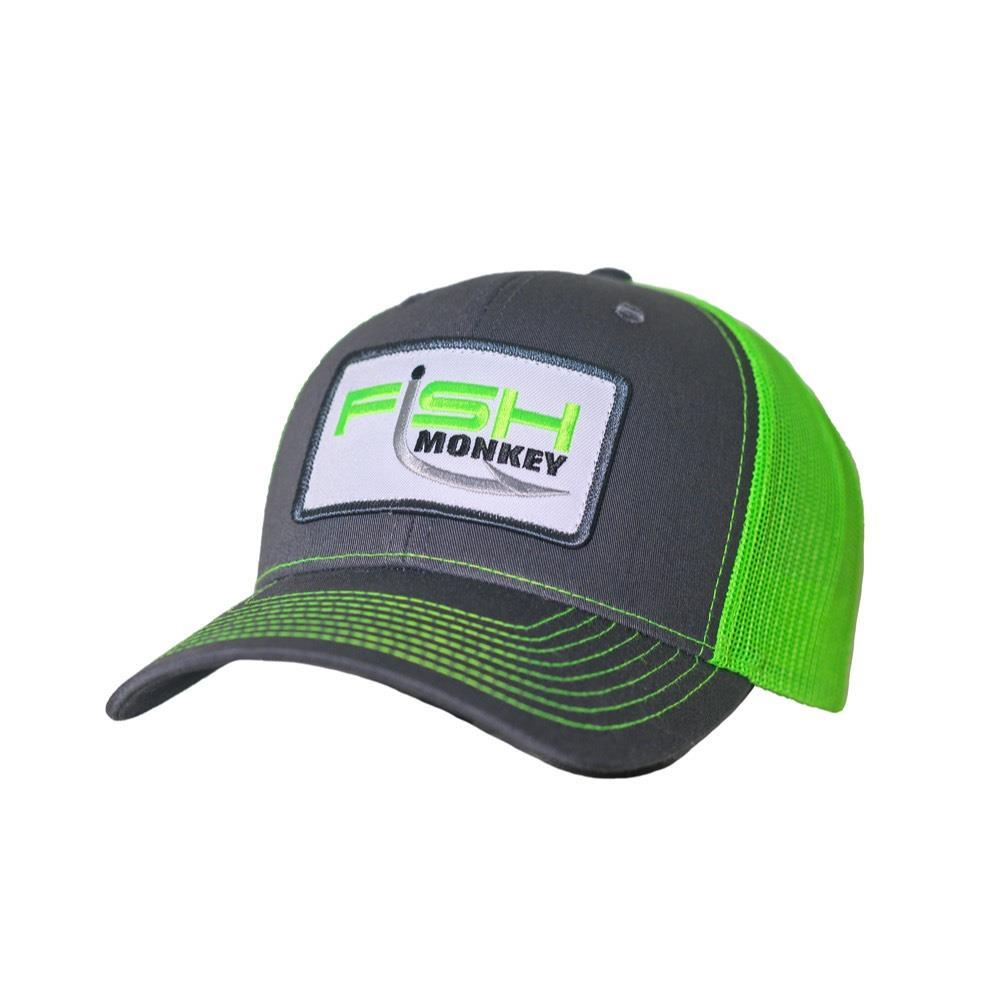 Hat MR PATCH Charcoal/Neon Green