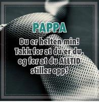 Magnetramme Tinka Quote Pappa... Helten