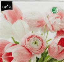 Serviett Rosa Tulipan