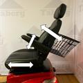 Taberg T408-2 promenadscooter röd