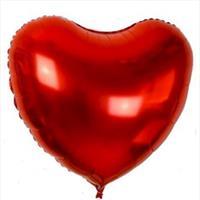 Folie -  hjerteform  / Rød 32 cm